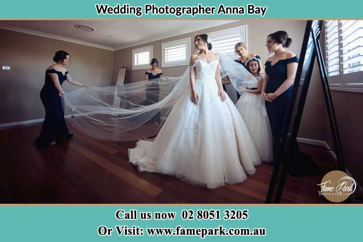 Photo of the Bride and the secondary sponsor preparing Anna Bay NSW 2316