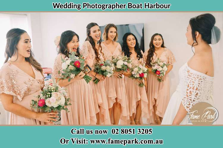 Photo of the Bride and the bridesmaids Boat Harbour NSW 2316
