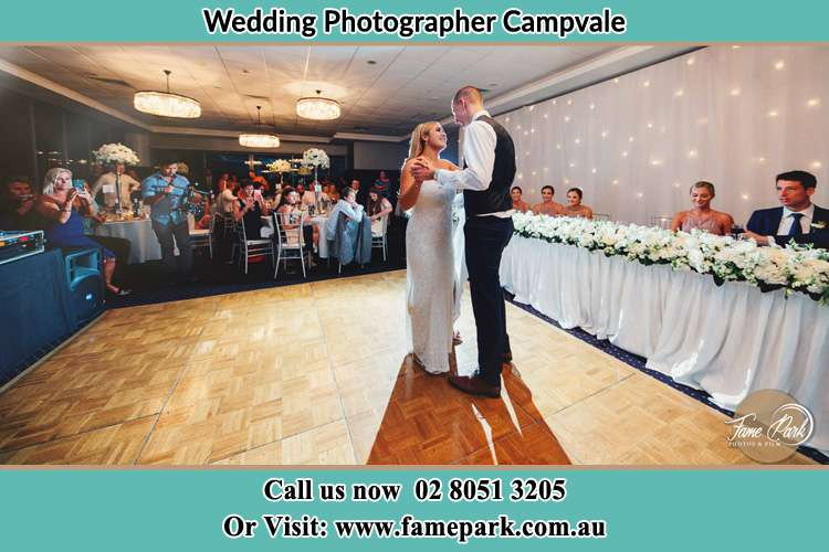 Photo of the Bride and the Groom dancing Campvale NSW 2318