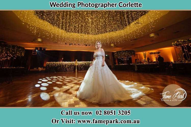 Photo of the Bride on the dance floor Corlette NSW 2315
