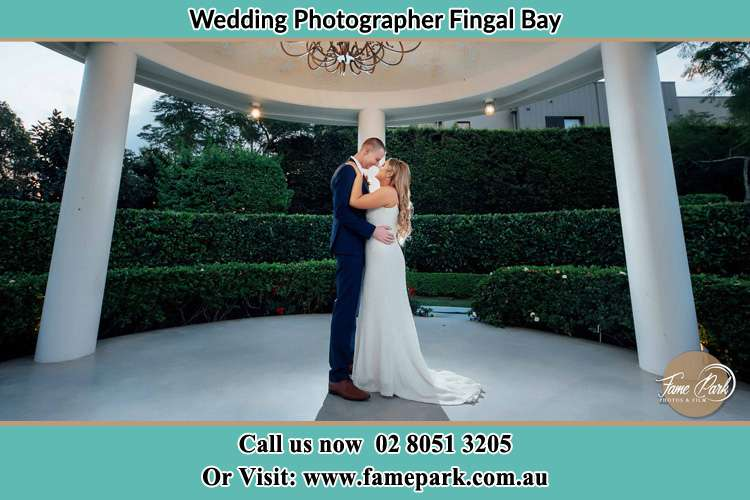 Photo of the Groom and the Bride dancing Fingal Bay NSW 2315