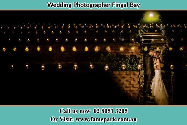 Photo of the Groom and the Bride kissing Fingal Bay NSW 2315
