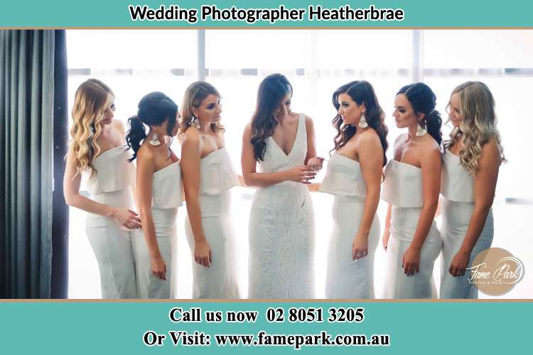 Photo of the Bride and the bridesmaids Heatherbrae NSW 2324