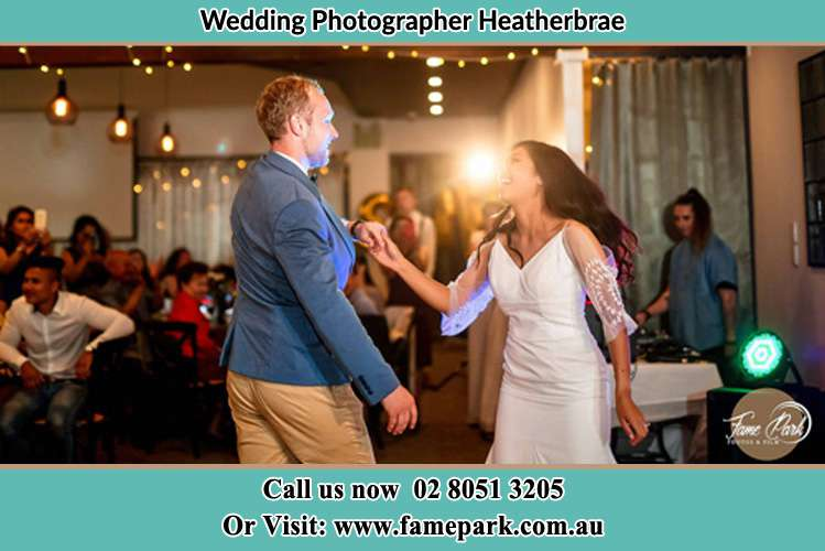 Photo of the Groom and the Bride dancing Heatherbrae NSW 2324