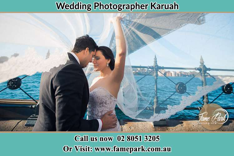 Photo of the Groom and the Bride kissing Karuah NSW 2324