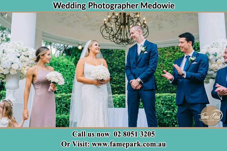 Photo of the Groom and the Bride with the entourage Medowie NSW 2318