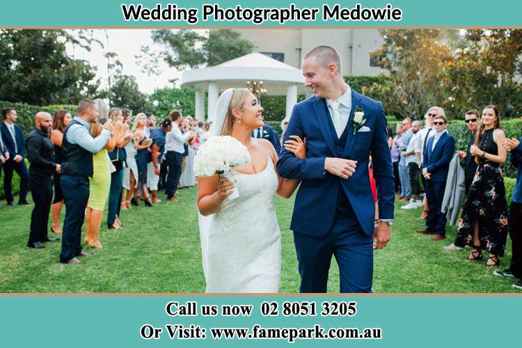Photo of the Groom and the Bride looking each other Medowie NSW 2318