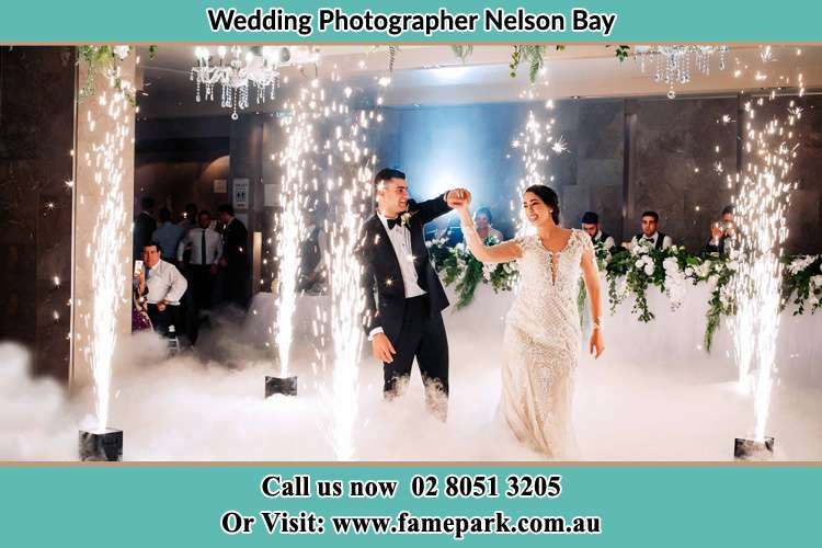 Photo of the Groom and the Bride dancing on the dance floor Nelson Bay NSW 2315