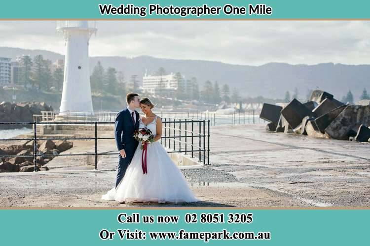 Photo of the Bride and Groom at the Watch Tower One Mile NSW 2316
