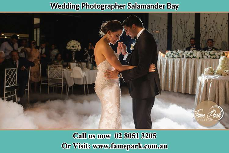 Photo of the Groom and the Bride dancing Salamander Bay NSW 2317