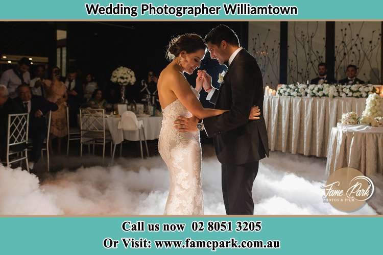 Photo of the Groom and the Bride dancing Williamtown NSW 2318
